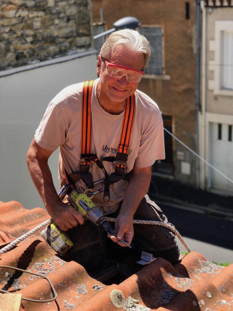 travail en hauteur securite photovoltaique