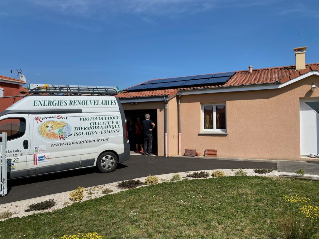chantier photovoltaîque Issoire
