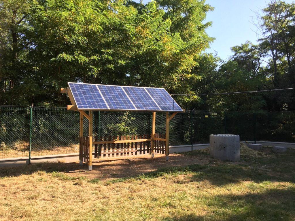 Site isole batterie photovoltaique