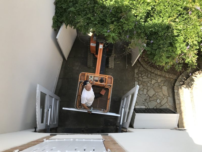 travailler sur les toits sécurité