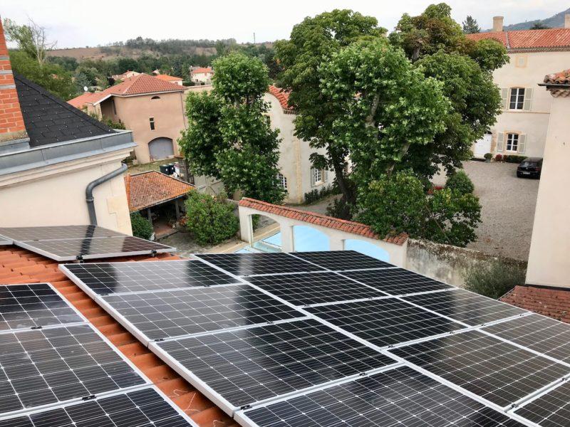 maison de bourg panneau solaire