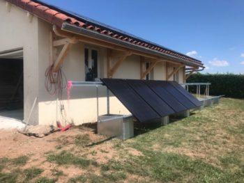 panneau solaire au sol
