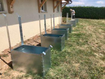 support au sol panneau photovoltaique