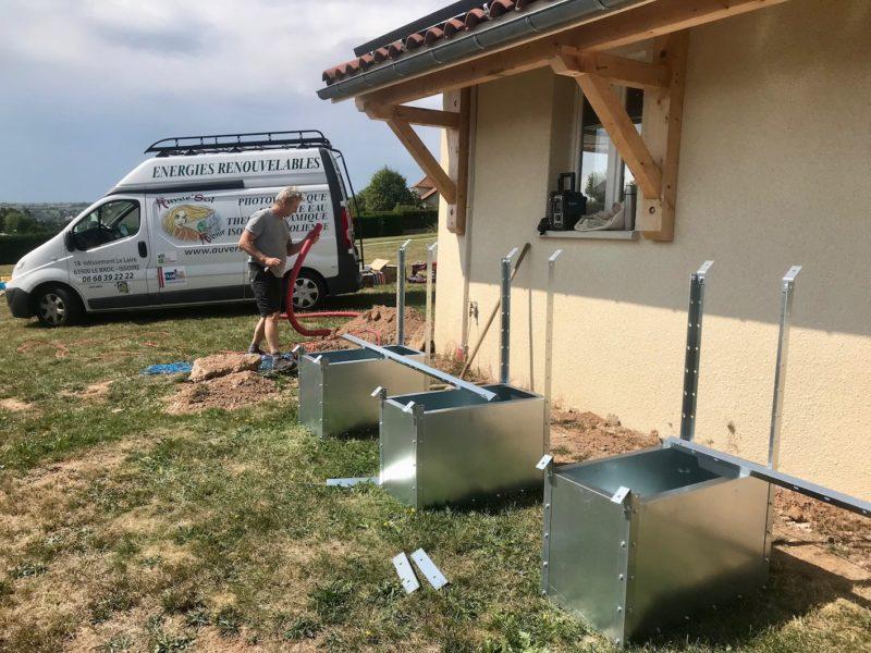 support pour panneau photovoltaique au sol