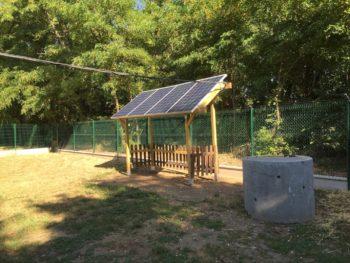 Site isole avec batterie photovoltaîque