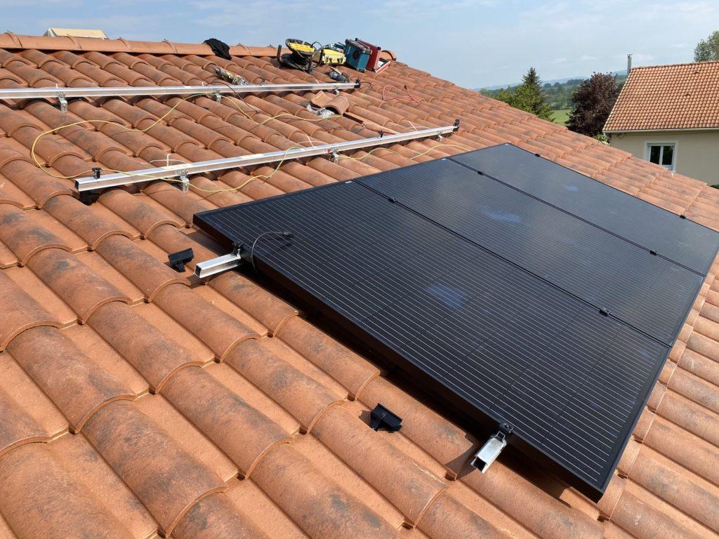 sauxillanges chantier photovoltaïque