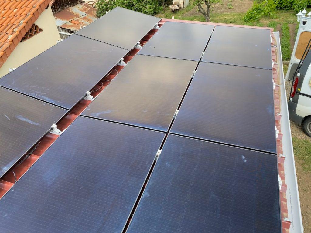 toit plat panneau solaire