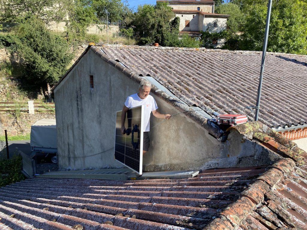 Auvergne Sauxillanges installation photovoltaïque