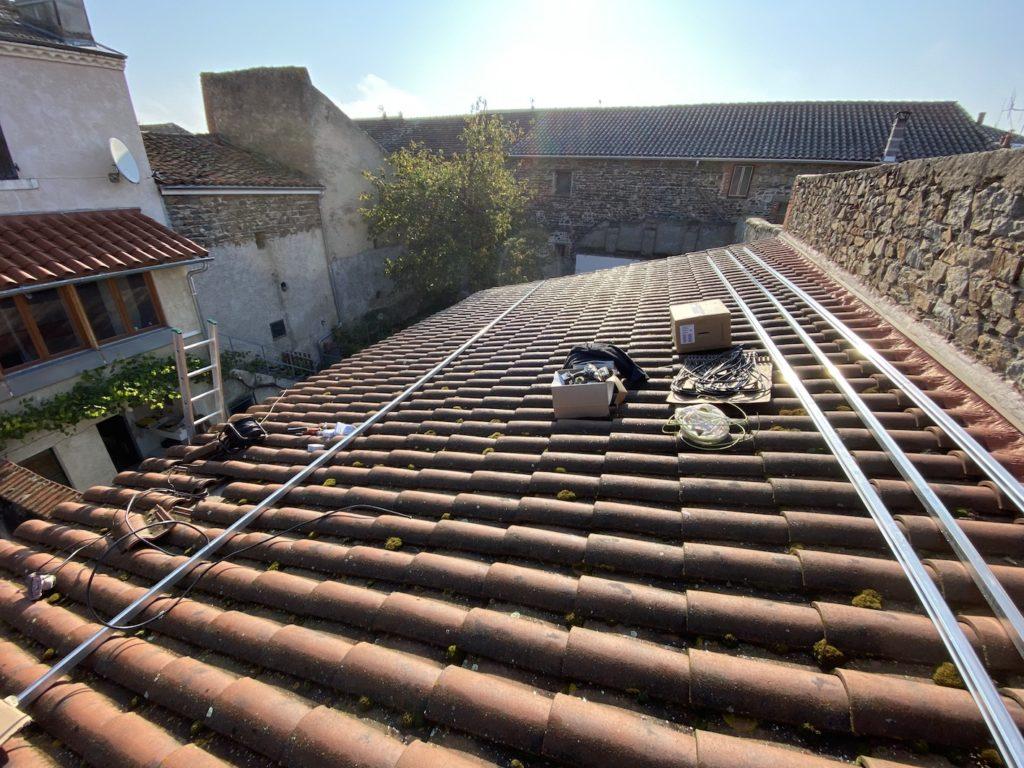 chantier panneau solaire