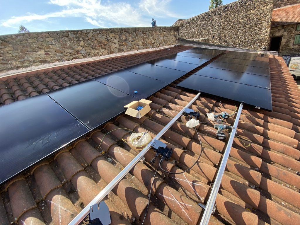 chantier photovoltaïque Auvergne
